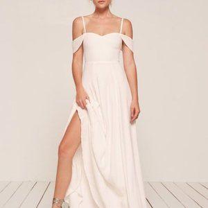 Reformation Poppy Dress in Ivory Wedding Gown